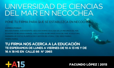 El Frente Renovador junta firmas para traer la Universidad de Ciencias del Mar