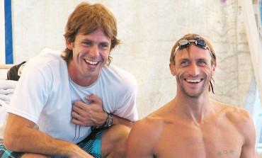 Meolans y Otero brindan una clínica de natación gratuita