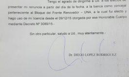 Al final, López Rodríguez renunció a su banca de concejal de 2015