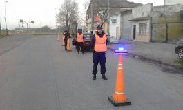 La policía realizó operativos en accesos a Quequén