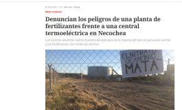 Clarín se hizo eco de las denuncias de ambientalistas por la planta de fertilizantes