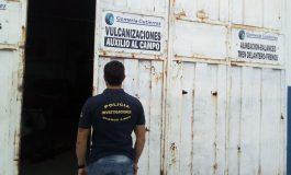Allanaron la Gomería Gutiérrez  por comercializar gomas robadas