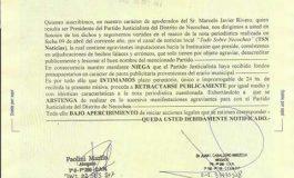 El Partido Justicialista le mandó una carta documento a Mancino