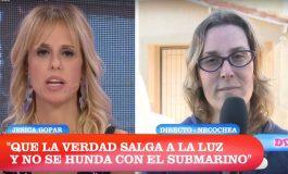 La necochense Gopar en canal 13 sigue pidiendo justicia por los submarinistas