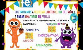 Celebran el día del niño en la Básica n° 1