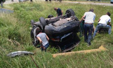 Otro accidente en Ruta 88. Dos vehículos chocaron en el cruce de Otamendi