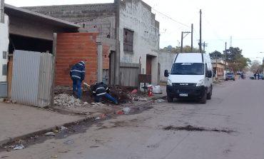 En un operativo conjunto lograron detener una importante fuga de gas en Quequén