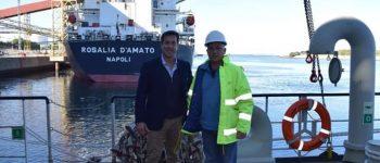 Afonso de Albuquerque: llegó la draga que llevará el puerto a 50 pies