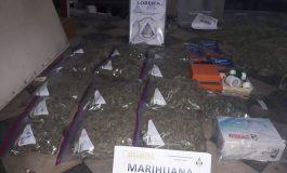 Secuestran 4 kilos de marihuana en Lobería. Dos aprehendidos