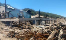 Destrucción total del Parador 38 tras un incendio